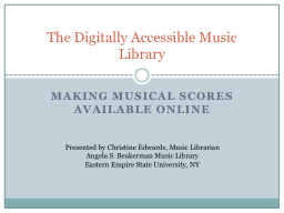 Making musical scores available online
