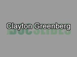 Clayton Greenberg