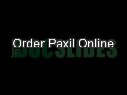 Buy paxil online