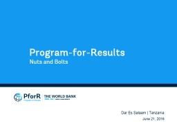 Program-for-Results PowerPoint PPT Presentation