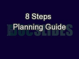 8 Steps Planning Guide PowerPoint PPT Presentation