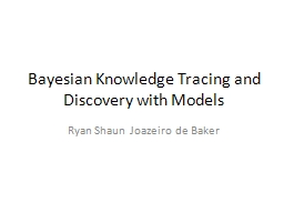 Bayesian Knowledge Tracing and