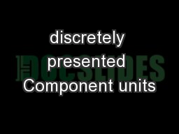 discretely presented Component units