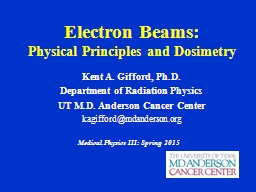 Electron Beams: