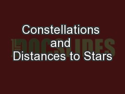 Constellations and Distances to Stars