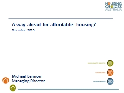A way ahead for affordable housing? PowerPoint PPT Presentation
