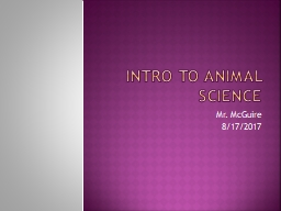 Intro to Animal Science PowerPoint PPT Presentation