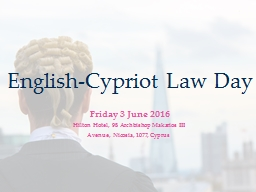 English-Cypriot Law Day PowerPoint PPT Presentation