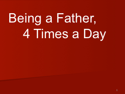 1 Being a Father,
