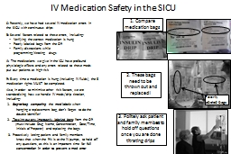 IV Medication Safety in the SICU