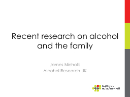 Recent research on alcohol and the family