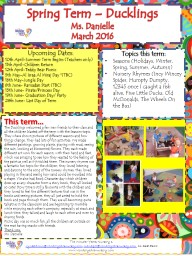 Spring Term – Ducklings PowerPoint PPT Presentation
