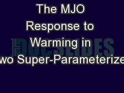 The MJO Response to Warming in Two Super-Parameterized