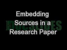 Embedding Sources in a Research Paper