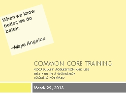 Common Core Training
