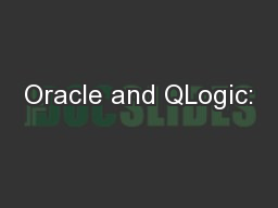 Oracle and QLogic: