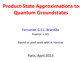 Product-State Approximations to Quantum