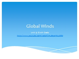 Global Winds PowerPoint PPT Presentation