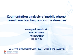 Segmentation analysis of mobile phone users based on freque