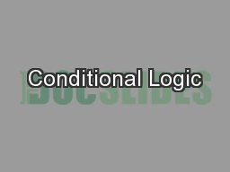 Conditional Logic