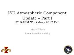 ISU Atmospheric Component