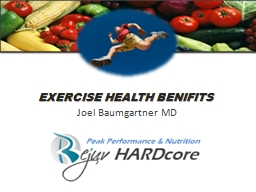 EXERCISE HEALTH BENIFITS