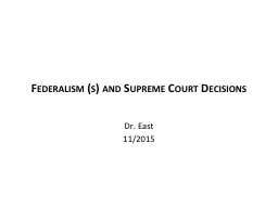 Federalism (s) and Supreme