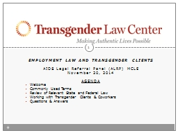 Employment law and transgender clients