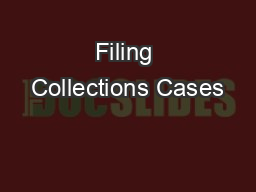 Filing Collections Cases