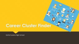 Career Cluster Finder