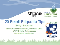 20 Email Etiquette Tips