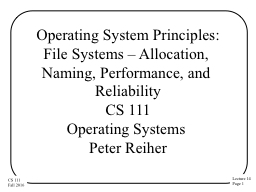 Operating System Principles: