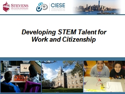 Developing STEM Talent for