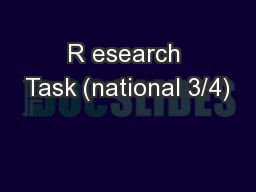 R esearch Task (national 3/4)
