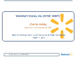 Wal-Mart Stores, Inc. (NYSE: WMT)