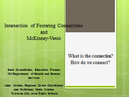 Intersection of Fostering Connections PowerPoint PPT Presentation