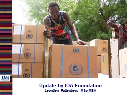 Update by IDA Foundation