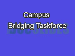 Campus Bridging Taskforce