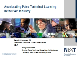 Accelerating Petro-Technical Learning