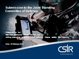 Submission to the Joint Standing Committee of Defence