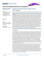 Responses of terrestrial aridity to global warming Qia
