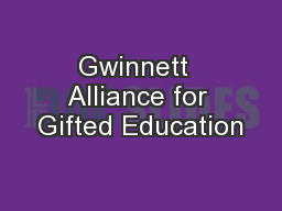 Gwinnett  Alliance for Gifted Education
