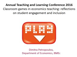 Annual Teaching and Learning Conference 2016