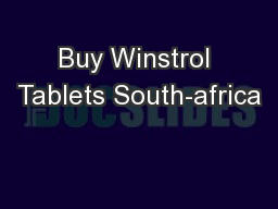 Buy Winstrol Tablets South-africa