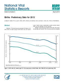 National Vital Statistics Reports Volume  Number May   Births Preliminary Data for  by Brady E