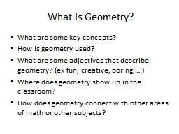 What is Geometry? PowerPoint PPT Presentation