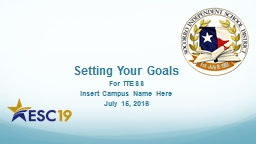 Setting Your Goals PowerPoint PPT Presentation