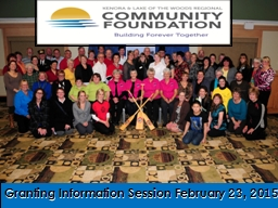 Granting Information Session February 23, 2015