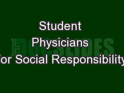 Student Physicians for Social Responsibility