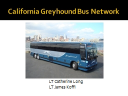 California Greyhound Bus Network